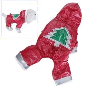 Dog Hoodie Hooded Jumpsuit Winter Coat Jacket   Size M: Pet Supplies