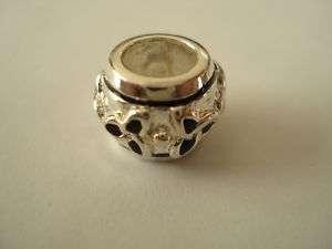 Irish Celtic Silver Charm Trinity Black   Fits Bracelet