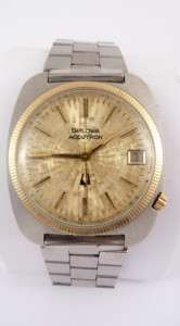 VINTAGE Bulova Accutron 2 TONE (GOLD) Mens Dress Watch