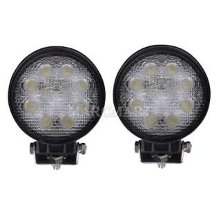 2pcs 24W PMMA 4 1850LM LED Work Driving Light Flood F Rescue Vehicle