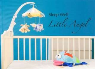 Sleep Well Little Angel Vinyl Wall Word Art Lettering Stickers Home