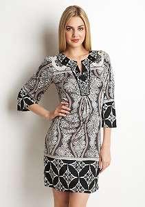Beaded Print 100% Silk Jersey Dress XS $348 BRAND NEW AUTHENTIC