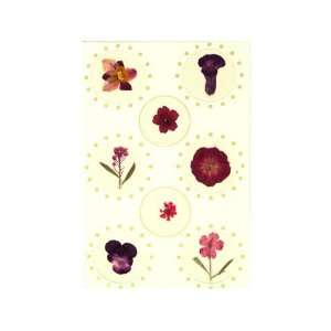 flower self adhesive stickers, floral sticker 2 packs.