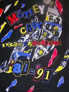 VINTAGE 1991 MOTLEY CRUE ROCK BAND SHIRT BROCKUM TAG A+