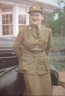 WWII WW2 Military Photo CWAC Canadian Womens Army Corp