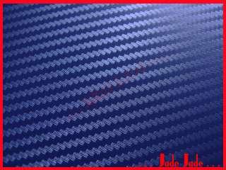 3D Carbon Fiber Vinyl Wrap Sticker 20x30cm D. Blue #F