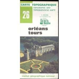 Map 26 France Orleans Tours Carte Topographique: none: Books