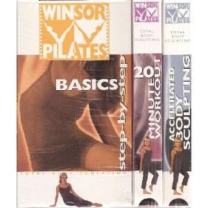 Winsor Pilates 3 VHS Boxed Set (Basics, 20 Minute Workout, Accelerated