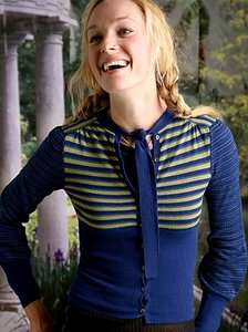 Free People Birdseye blue green wool cashmere cardigan sweater shirt