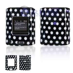 LG Lotus LX600 Cell Phone Black/White Polka Dot Design