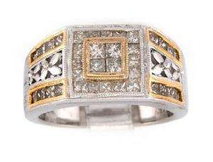 48ct Diamond Ring in 14K Two Tone Gold