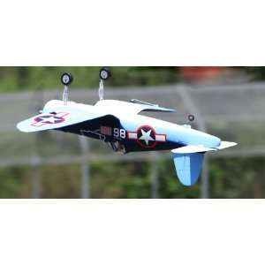New 2009 Super Scale 4 CH BlizRCWorks 2.4GHz F4U Corsair 3D Aerobaic