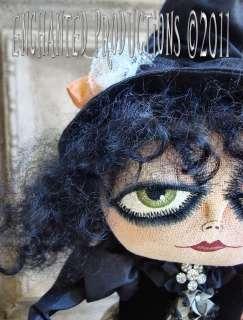 OOAK PFATT Primitive Folk Art Halloween Gypsy Witch Doll EHAG