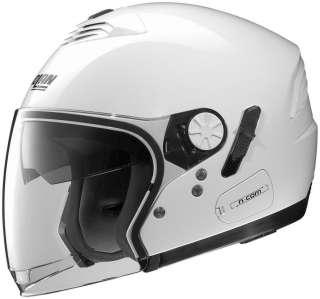 NEW NOLAN N 43 N COM Motorcycle Helmet Metal White L S