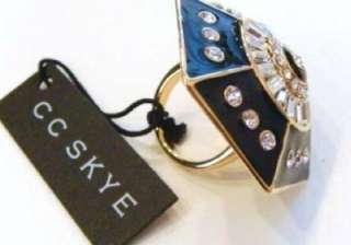 225 NWT CC Skye Power Crystal Gold Ring   Size 7