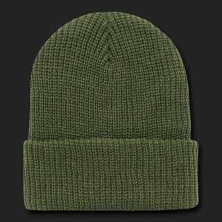 Cap Beanie Hat Ski Military Warm Winter Cuff Knit Hats Beanies