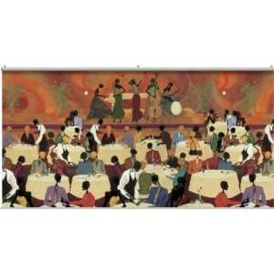 African American Jazz Band Night Club Portable Mural Home