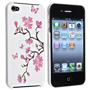 Flower Rubber Hard Skin Case Cover For iPhone 4 4S 4G 4GS G