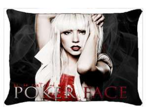 New Lady Gaga Poker Face Pillow Case