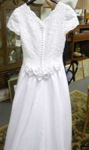 BEAUTIFUL NEW WHITE WEDDING GOWN DRESS SIZE 6 BEADED CHIFFON LAYERED