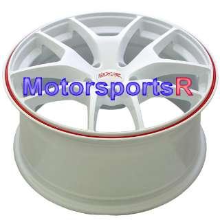 18 XXR 518 White Rims 09 10 Toyota Matrix Pontiac Vibe