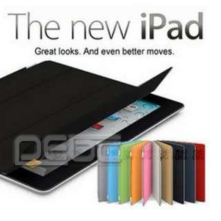 The New iPad 3/3rd Smart Cover PU Leather Case Wake/ Sleep Stand Multi