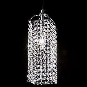 Mini Bravo Clear Crystal Pendant by James R Moder