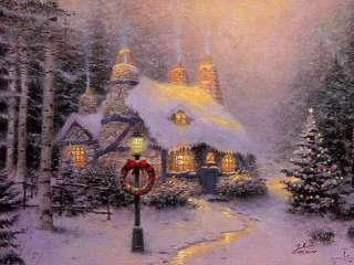 High Definition Printing Thomas kinkade Oil Painting Repro Christmas