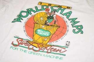 Vintage Boston Celtics T Shirt NBA Larry Bird McHale