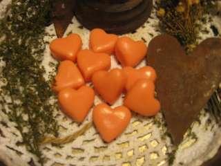 Primitive Valentine Heart Wax Tarts ~Peaches n Cream