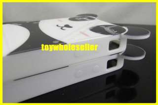 Panda Lover Couple EAR TPU IPhone 4 Case Cover 4G