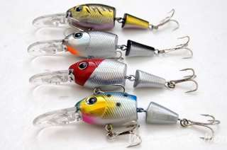 Wholesale 5pcs 75mm Double Jointed Baits Fishing Lures