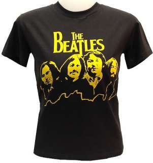 THE BEATLES Mt. Rushmore 70s VTG Rock T Shirt Abbey S
