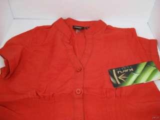 Kavu Womens Blouse Shirt XS Organic Bamboo Ruby Red NWT $59