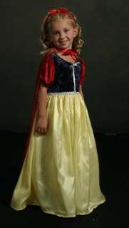 NWT Snow White Dress Up Costume & Headband & Cape XL