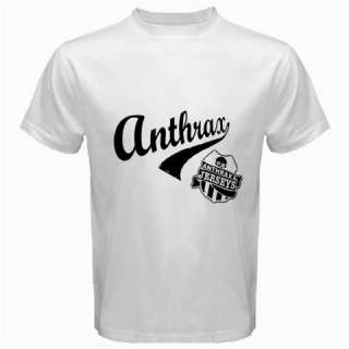 Anthrax Band Trash Speed Heavy Metal Rock Music Mens Black White T