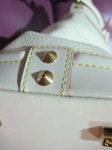 LOUIS VUITTON SUHALI WHITE LOCKIT PM BAG GOAT LEATHER