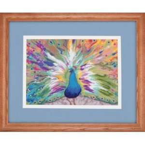 Rainbow Peacock   Cross Stitch Kit: Arts, Crafts & Sewing