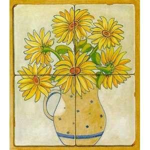 V. Alber   jarras con flores II Size 13.25x14.25 by V. Alber