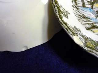 JOHNSON BROTHERS FRIENDLY VILLAGE 10 DINNER PLATE SCHOOLHOUSE MADE IN