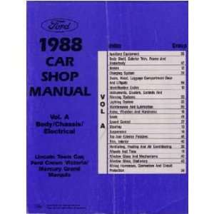1988 CROWN VICTORIA TOWN CAR GRAND MARQUIS Service Manual Automotive