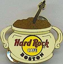 Hard Rock Cafe BOSTON 2007 City Core BEAN POT PIN #2 HRC Catalog