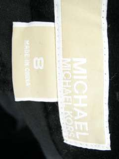 MICHAEL KORS Black Velvet Boot Cut Slacks Pants Sz 8