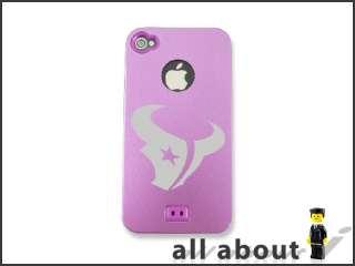 Houston Texans NFL Team Logo For i Phone 4 4S Hard Metal Alumor Case