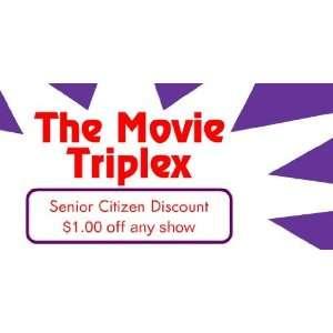 3x6 Vinyl Banner   Movie Senior Citizen Discount: Everything Else