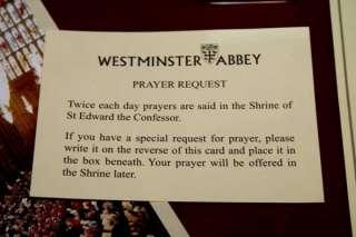 WESTMINSTER ABBEY Sterling 18k CROSS, Candle, Prayer CARD, Brochure