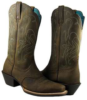 New Ariat Womens Legend Distressed Brown Cowboy Boots/Shoes US SIZES