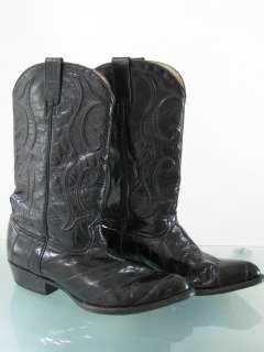 EEL SKIN GOAT LEATHER MANS WESTERN COWBOY BOOTS SHOES~11 EE