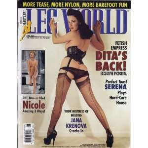 LEG WORLD APRIL 2003 DITA VON TESSE: LEG WORLD MAGAZINE: Books