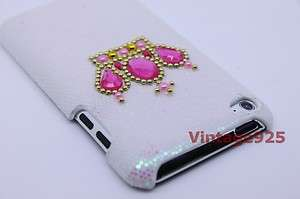 Super Glitter Bling Clear AB Crown Ipod Touch 4 Plastic Hard Back